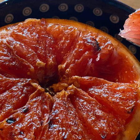 Ruby Red Grapefruit with Caramelized Brown Sugar and Cinnamon