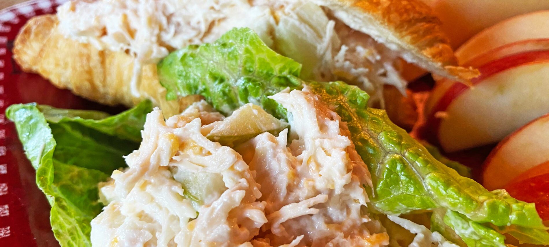 Chicken Salad on lettuce and croissants