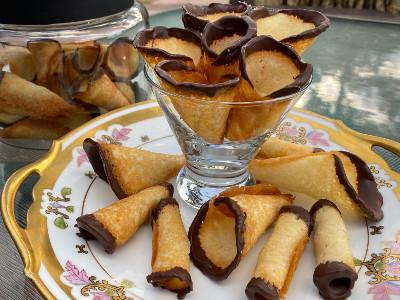 Chocolate Gilded Danish Sugar Cones