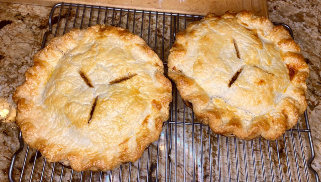 2 small pies