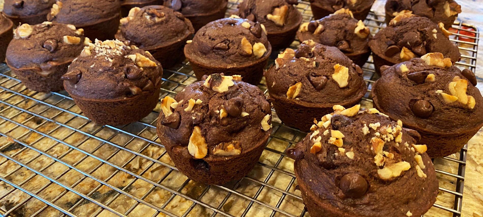 Mocha Walnut Muffins