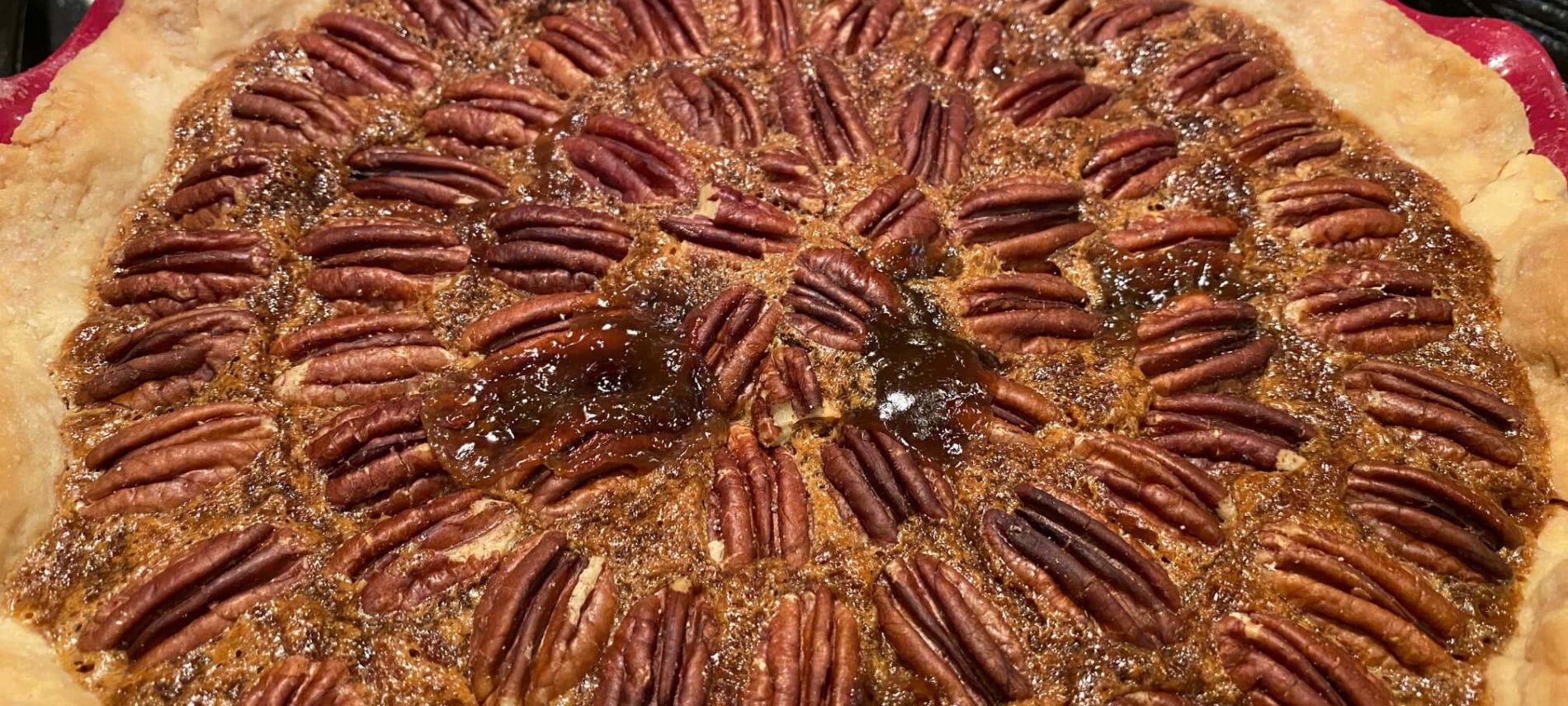 Pecan Pie with flaky crust