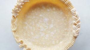 Pie Crust dough in a pie dish