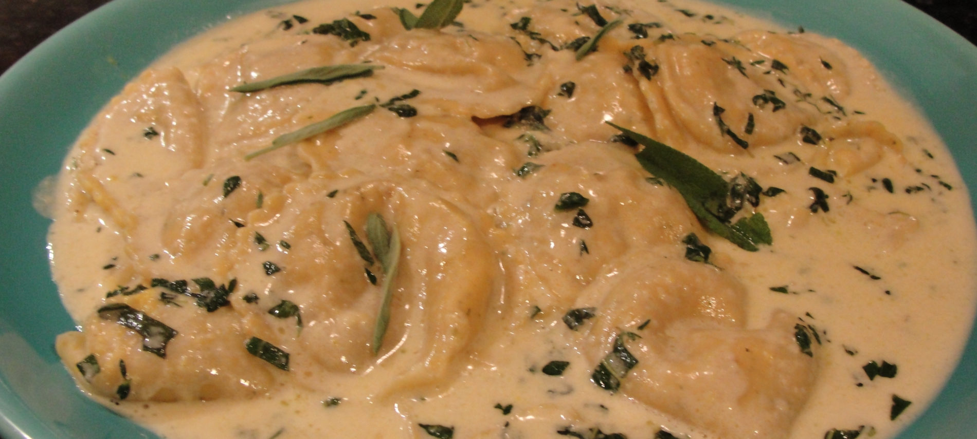 Pumpkin Ravioli with Butter Sage Sauce