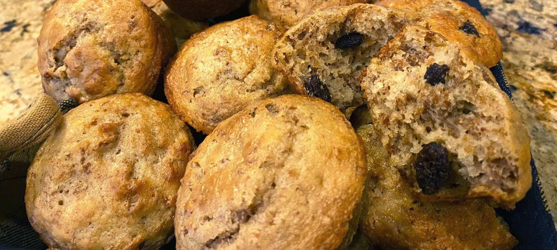 Golden Raisin Bran Muffins