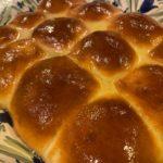 Golden brown glistening rolls