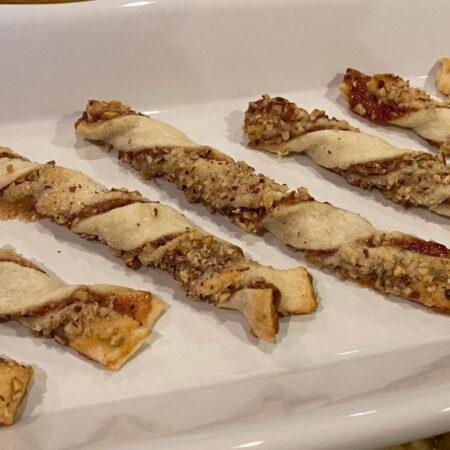 Strawberry Pecan Twist Cookies