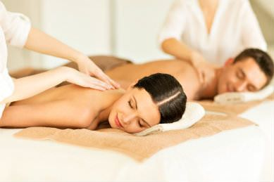 couples message with two massage therapists